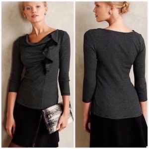 Anthro Deletta Ophelia Waffle Knit Top